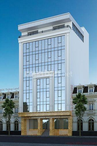 Cần cho thuê gấp tòa Văn Phòng 6 tầng mp Hoàng Cầu.dt 259m2,320tr