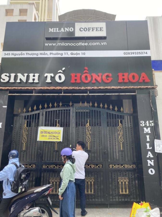 Chính chủ cho thuê nhà nguyên căn mặt tiền Đường Nguyễn thượng Hiền, phường 11, Quận 10,Tp Hồ Chí