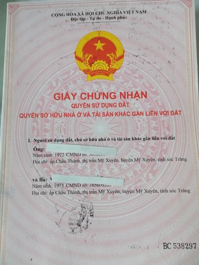 Dư không sử dụng nên bán căn nhà đẹp vị trí đắc địa huyện Mỹ Xuyên, tỉnh Sóc Trăng