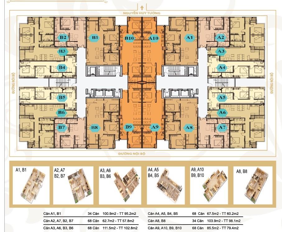Cho thuê căn hộ Chung cư Nguyễn Huy Tưởng, Thanh xuân, 107m2, 13,5 triệu/tháng.
