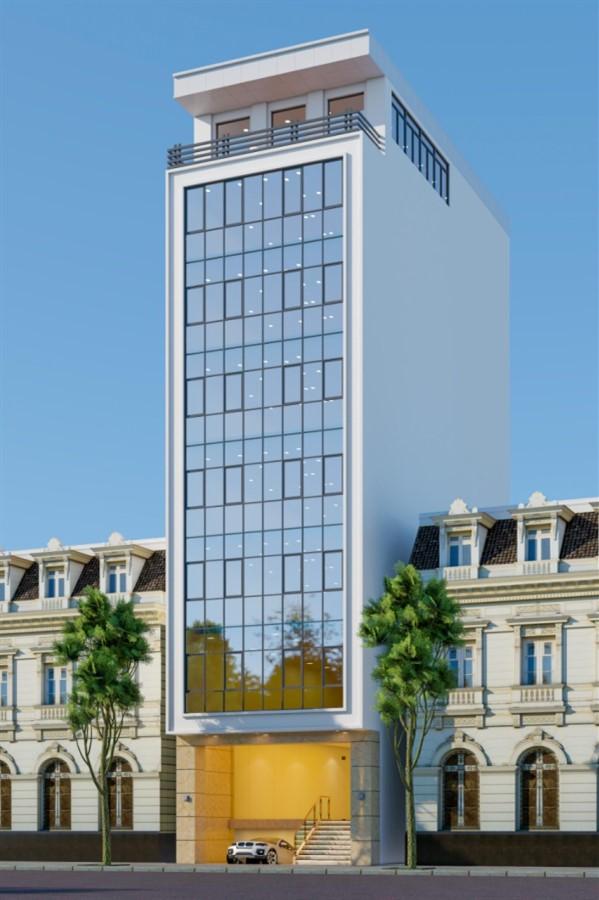 Bán tòa nhà Văn Phòng 9 tầng mặt phố Vũ Tông Phan nhà mới DT 100m2 Mt 9.2m. Giá 46 tỷ