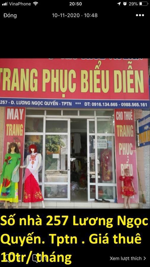 Chính chủ cần cho thuê nhà nguyên căn khu vực TP Thái Nguyên