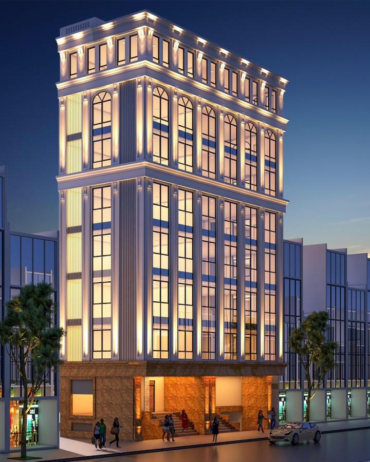 Bán tòa VP 9 tầng mặt phố Trần Vỹ - Lê Đức Thọ. 86 tỷ