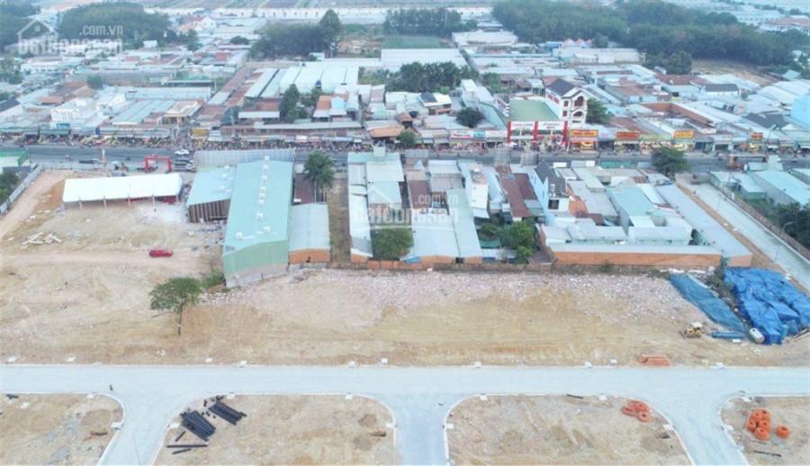 Đất mặt tiền chợ Nhật Huy, 5x20m công chứng ngay khi thanh toán, thổ cư 100%, MT đường 741