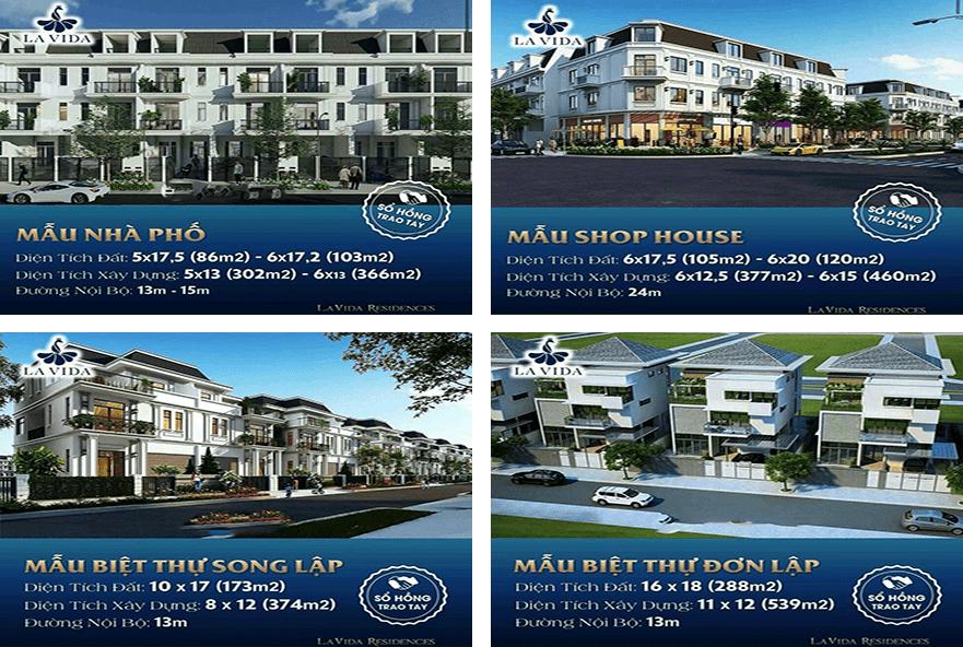Dự án La Vida Residences nhà phố, biệt thự, shophouse hàng CĐT -  LH: 0932869179