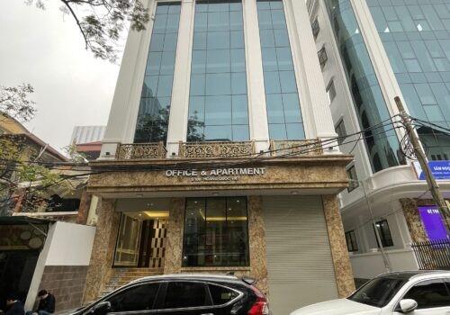 Cho thuê toà nhà Văn Phòng 9 tầng mặt phố Hoàng Văn Thái.DT 95 m2.GIÁ 4000usd