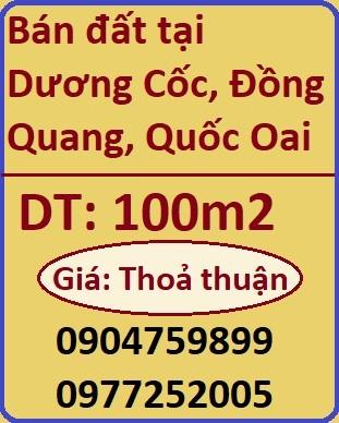 Chính chủ bán đất tại Dương Cốc, Đồng Quang, Quốc Oai, 0977252005