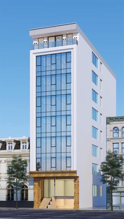 Cho thuê toà nhà Văn Phòng 9 tầng mặt phố Vũ Tông Phan.DT 115 m2.GIÁ 5000 usd