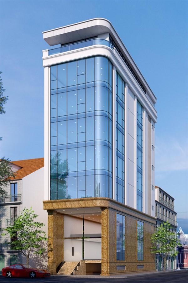 Cho thuê toà văn phòng 9 tầng DT240m2 mặt phố Hoàng Ngân...Giá: 15000 usd