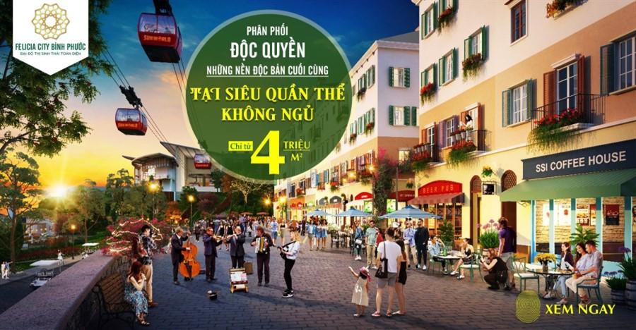 Những lý do sinh lời cùng đất nền dự án Felicia City Bình Phước giá 4tr/m2.