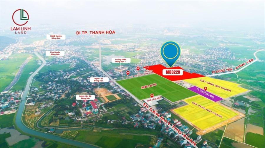 GĐ cần bán gấp lô đầu ve đường đôi 28m đẹp nhất MB Đông Thịnh, Đông Sơn, Thanh Hóa