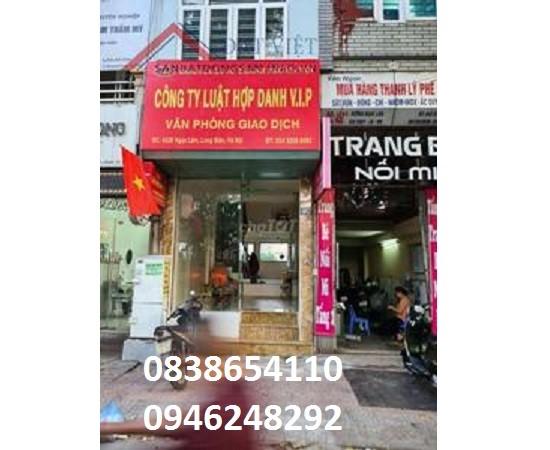Cho thuê mặt bằng KD / VP mặt đường Ngọc Lâm,Long Biên, từ 12tr, 0946248292